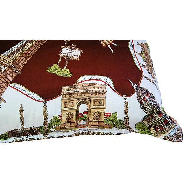 Souvenir de Paris Silk Scarf Pillow - Image 4 of 8
