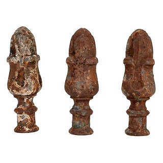 French Cast Iron Finials - Set of 3