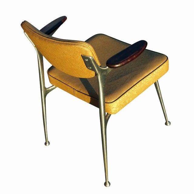 Aluminum Gazelle Armchairs- Set of 4 - Image 7 of 8