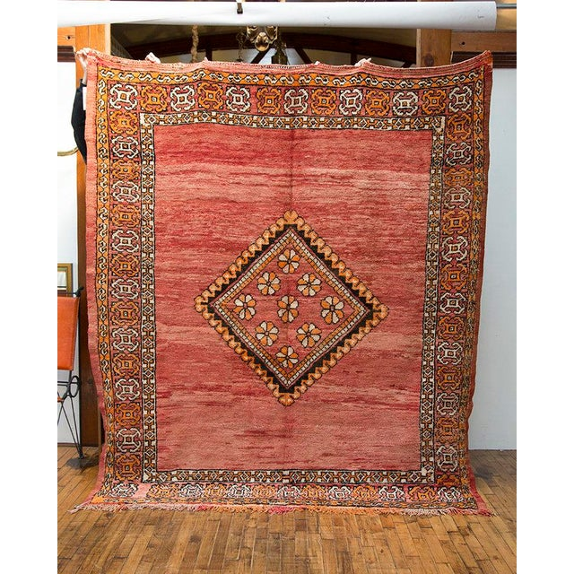 """Red Moroccan Taznakht Rug - 6'7"""" X 8' - Image 3 of 8"""