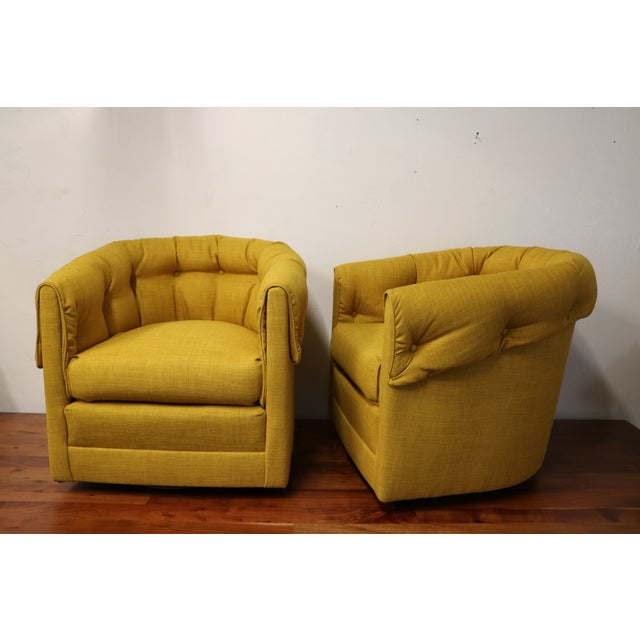 Vintage Swivel Lounge Chairs - A Pair - Image 3 of 6