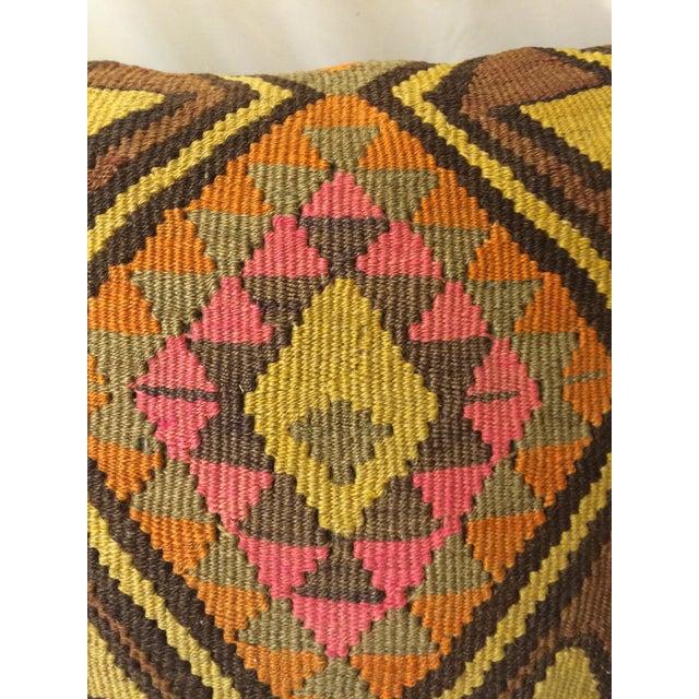 Antique Turkish Kilim Pillows - Pair - Image 6 of 8