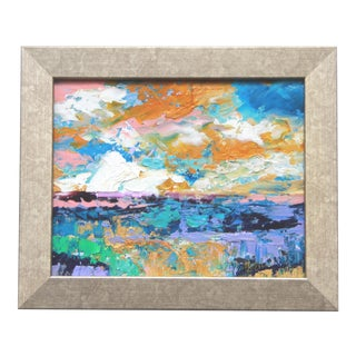 Claire McElveen Framed Abstract Landscape Painting