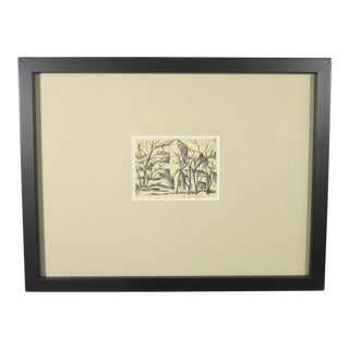 Miniature Barn & Silo Lithograph