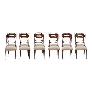 Italian Newly Upholstered Chairs in the Manner of Osvaldo Borsani - Set of 12