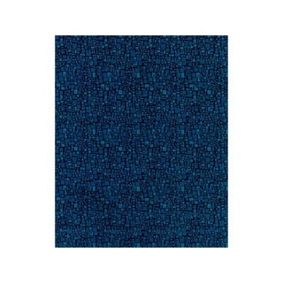 Brunschwig & Fils Peacock Blue Mosaic Velvet Fabric - 18 Yards