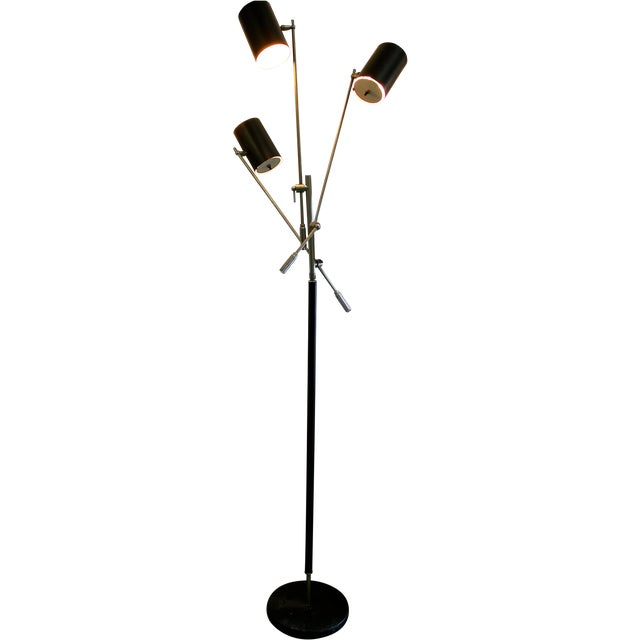 mid century modern 3 arm adjustable floor lamp chairish. Black Bedroom Furniture Sets. Home Design Ideas