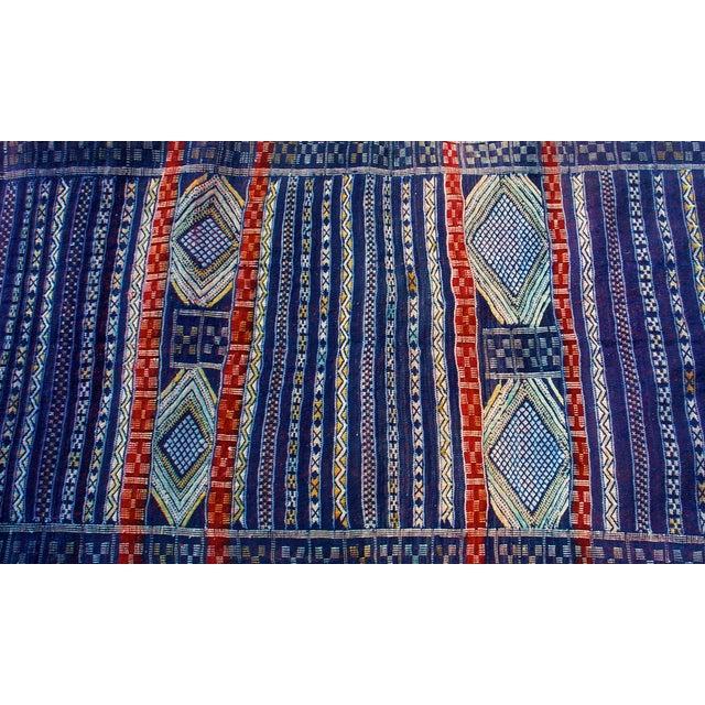 "Blue Moroccan Berber Tribal Kilim Rug 3' 1""x 6' 3"""