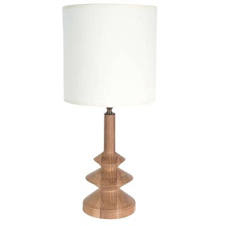 Minor Turned Walnut Table Lamp