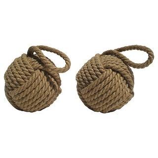 Jute Knot Balls - A Pair