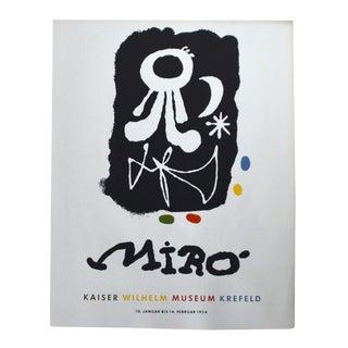 Original Miro Lithographic Exhibition Poster