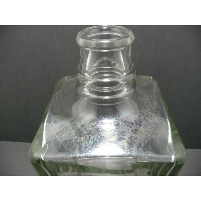 Image of Mid-Century Glass Gin Decanter with Chrome Pump
