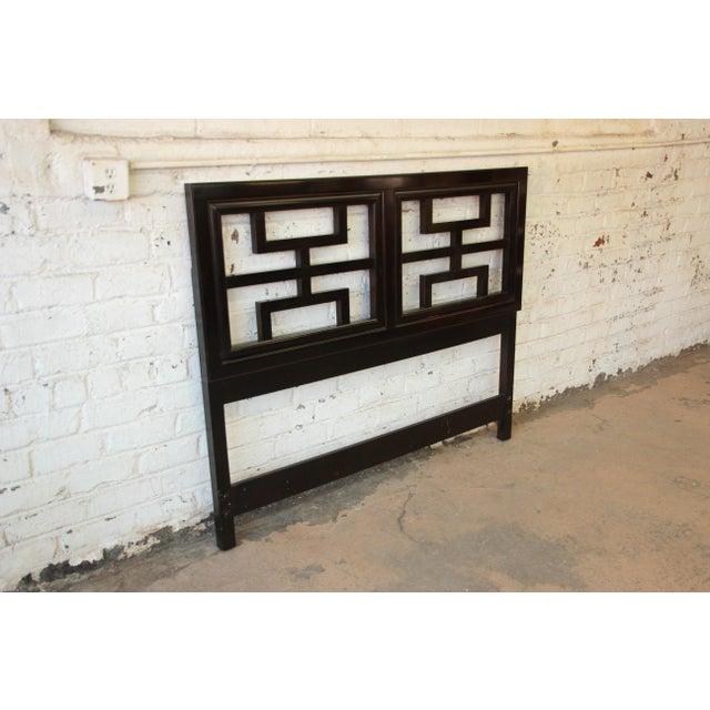 Century Furniture Chin Hua Black Lacquer Full Size Headboard - Image 6 of 6