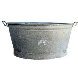 Vintage French Galvanized Washtub