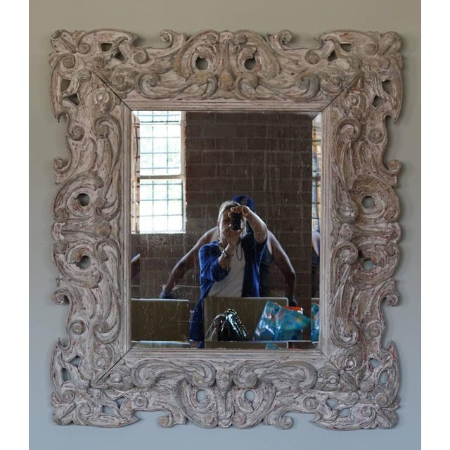 Antique Italian Carved Painted Mirror - Image 7 of 8