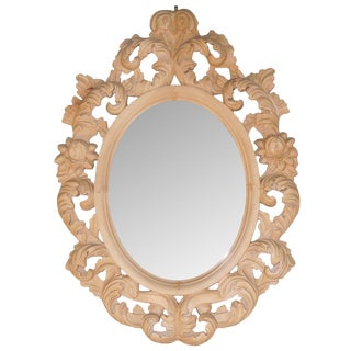 Naked Wood Baroque Mirror