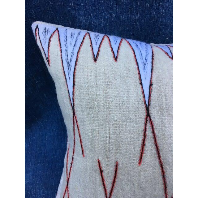 Antique Chieftain Tribal Cape Textile Pillow - Image 6 of 8