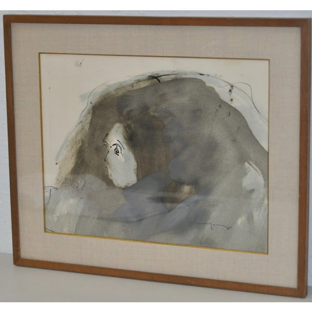 Image of Abstract Figure Watercolor by John Young