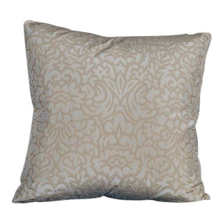 "Custom 24″ x 24″ Pillow, ""Sebastian"", Woven 100% Silk Cloth"