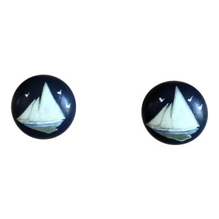 Sea Birds Decoupage Knobs - A Pair