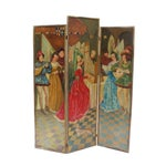 French Antique Painted Screen