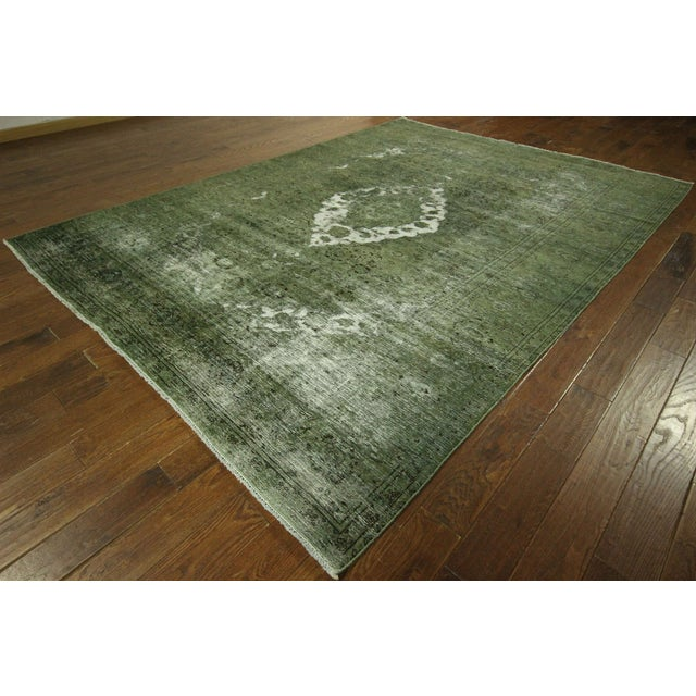 Traditional Green Overdyed Area Rug - 8' x 11' - Image 2 of 10