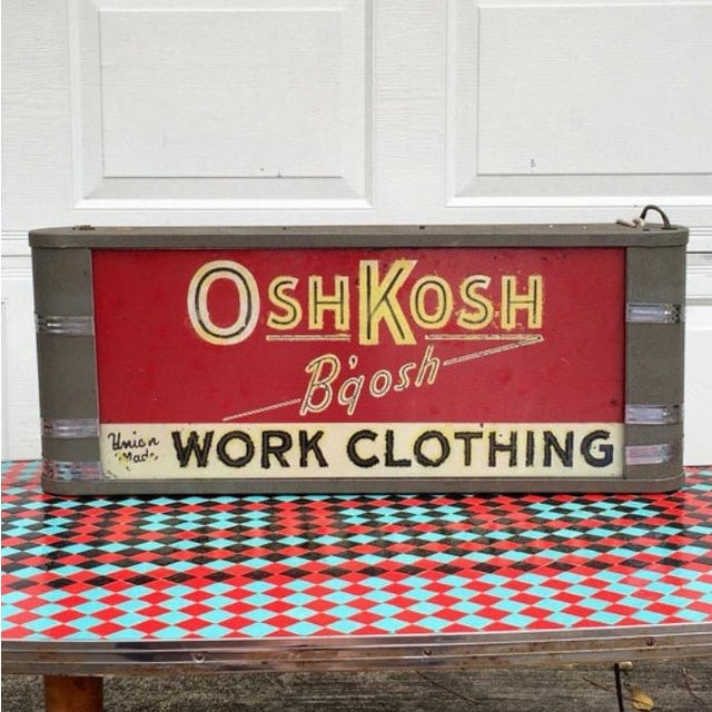 Osh Kosh B'gosh Light Up Sign - Image 2 of 6