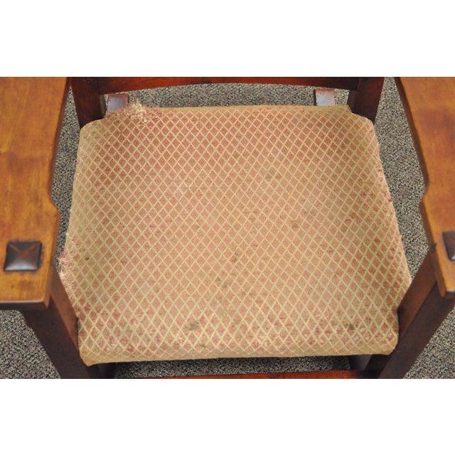 Antique Solid Maple Mission Arts & Crafts Rocker Rocking Chair Stickley Era - Image 7 of 10