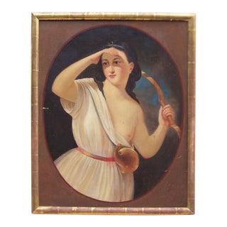Diana the Huntress C.1900 Oil Portrait Painting