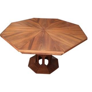 Foster McDavid Inlaid Walnut Octagonal Dining Table
