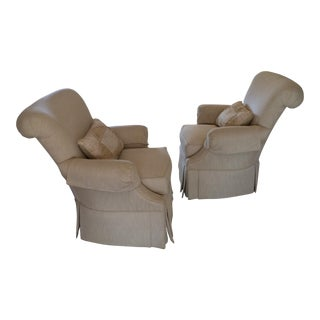 Thomasville Upholstered Arm Chairs - Pair