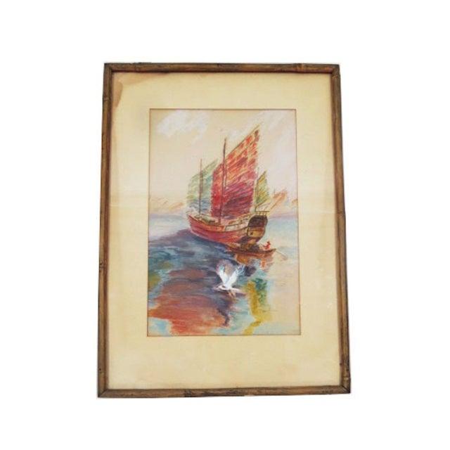 Original Sailboat Painting - Image 2 of 2