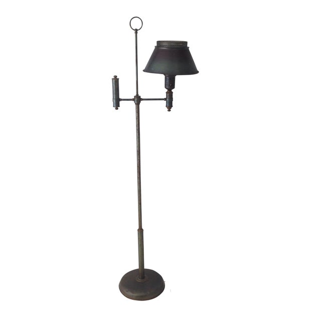 Bronze Colored Tole Floor Lamp - Image 1 of 11