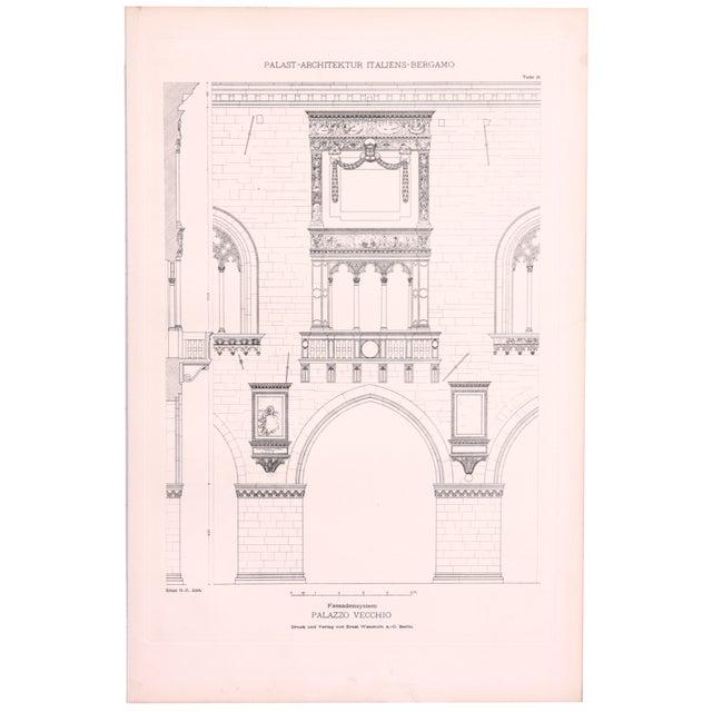 Image of Vintage Palazzo Vecchio, Italy Engraving Print