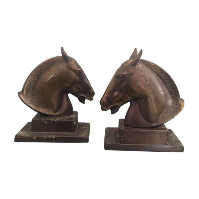 Brazen Horse Bookends - A Pair - Image 1 of 11