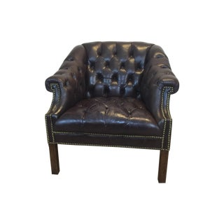 Vintage Chesterfield Style Tufted Leather Chair