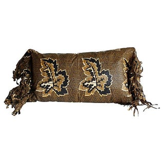 African Wax Print Textile Pillow