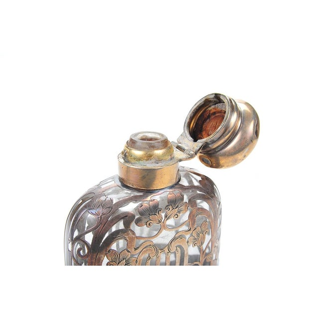 Antique 19th C. Sterling Silver & Glass Flask - Image 8 of 9