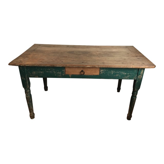 Antique Distressed Kitchen Table Chairish