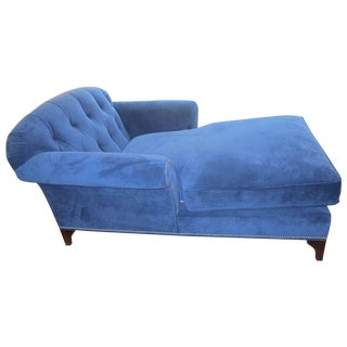 Navy Blue Chaise Lounge Chair