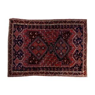 "Vintage Persian Afshar Rug - 3'6"" X 4'8"""