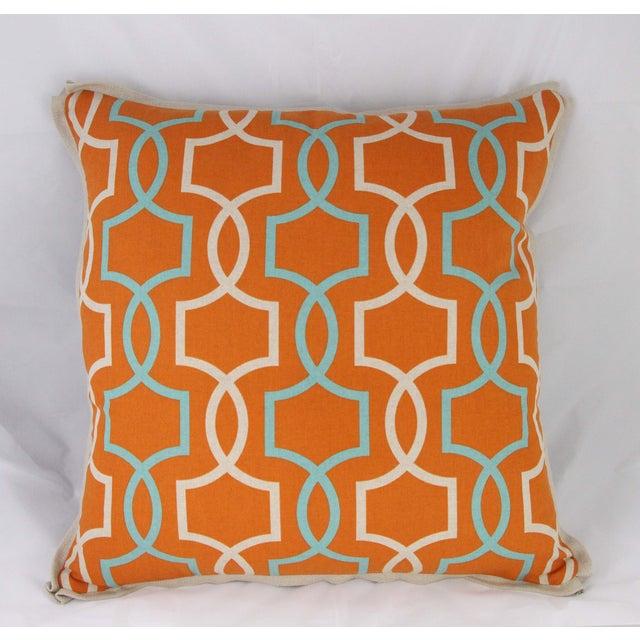 Orange Casey Linen Pillow - Image 2 of 7