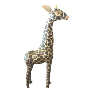 Vintage Carved Hand Painted Wood Giraffe