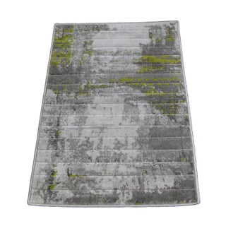 Green Abstract Rug - 2′ × 3′