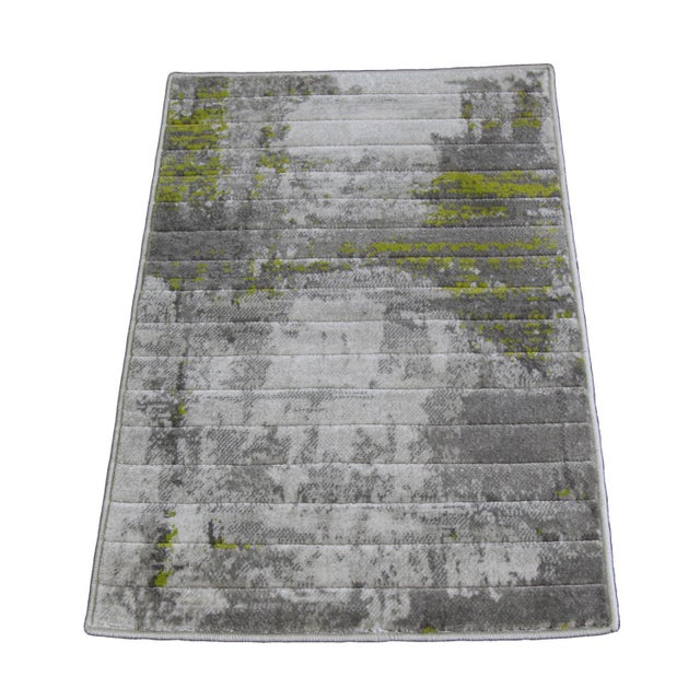 Image of Green Abstract Rug - 1′8″ × 2′6″