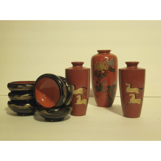 Image of Antique & Vintage Japanese Lacquer-Ware - 9