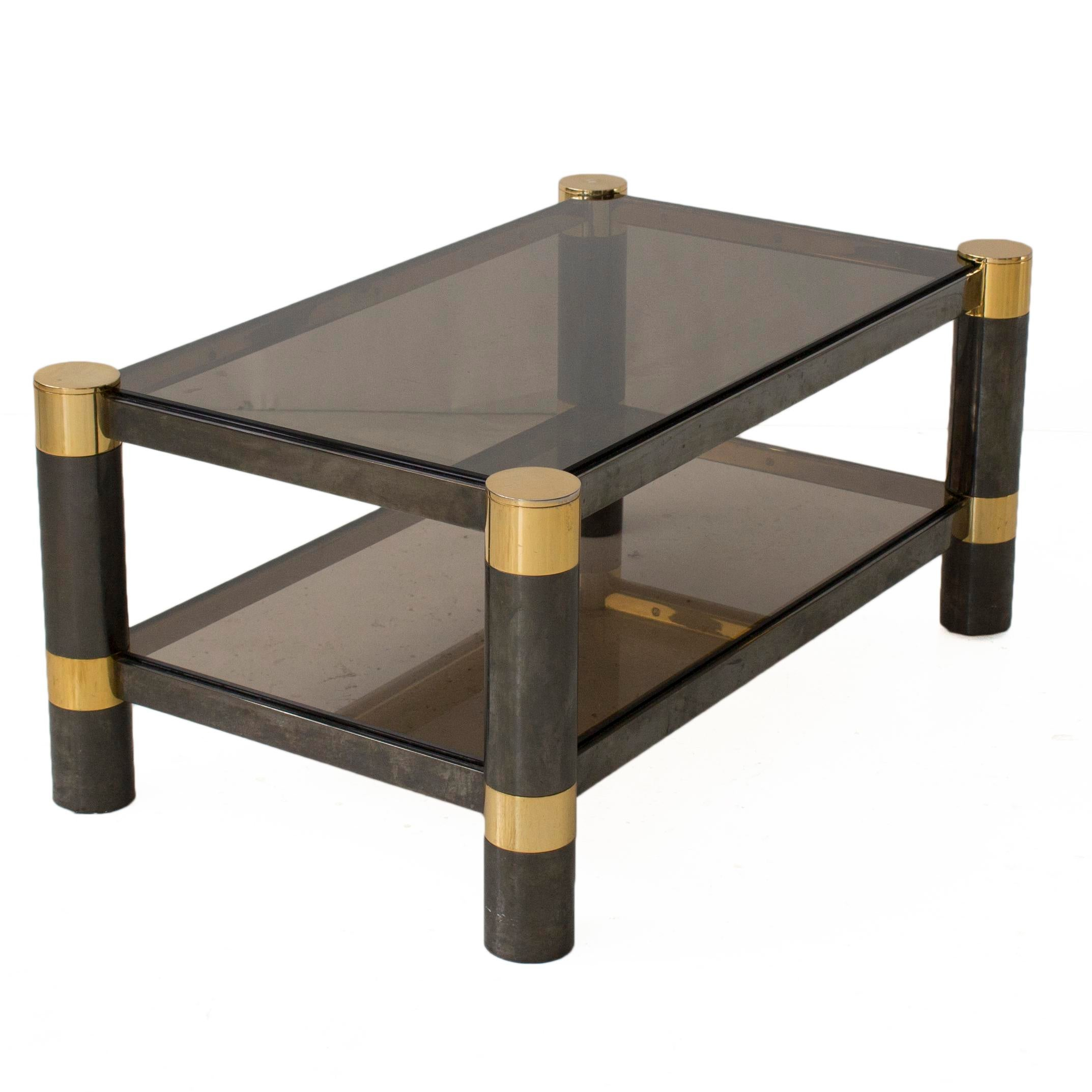 Karl Springer Smoked Glass Coffee Table   Image 4 Of 6