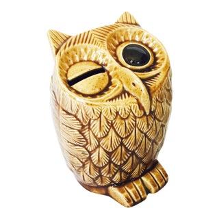 Vintage Pottery Owl Bank