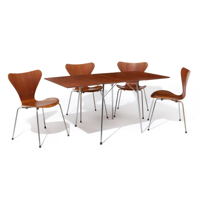 Image of Fritz Hansen Vintage Dining Table & Four Chairs