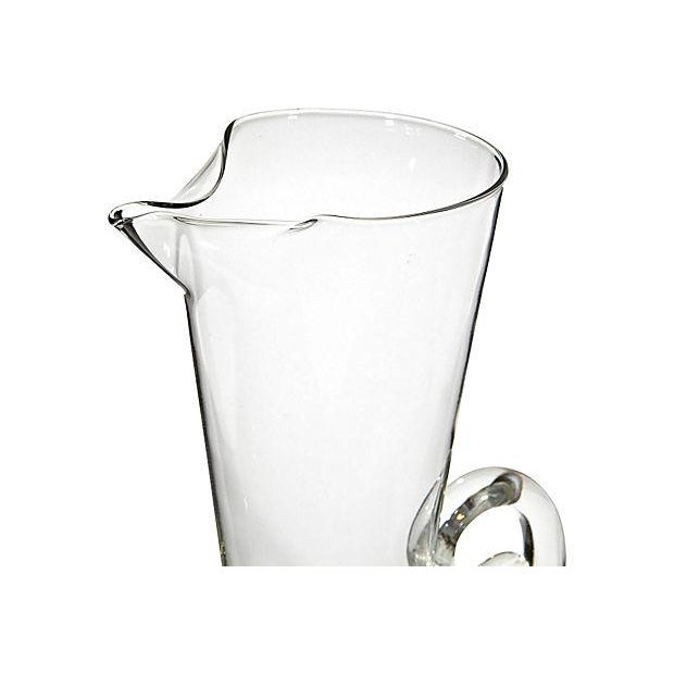 1950's Sterling-Base Glass Pitcher - Image 3 of 3